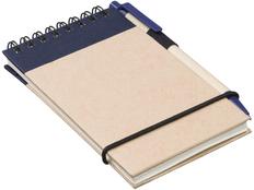 Блокнот на пружине с авторучкой Zuse, 40 листов, синий фото