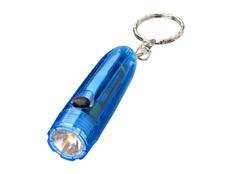 Брелок - фонарик пулеобразный Bullet, прозрачный синий фото