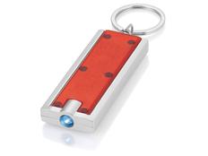 Брелок - фонарик прямоугольный Castor, красный фото