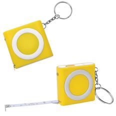 Брелок - рулетка с фонариком, желтый фото