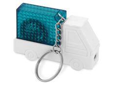 Брелок - рулетка с фонариком в форме авто Автомобиль, синий фото