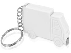 Брелок - рулетка в форме авто Грузовик 1м, белый фото
