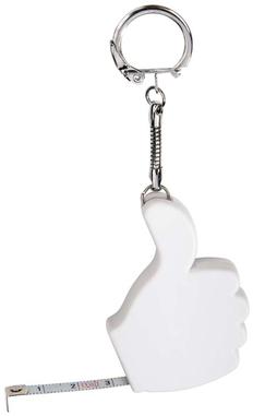 Брелок с рулеткой Thumbs Up, белый фото