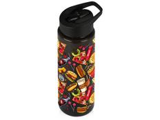 Бутылка для воды Speedy с круговой УФ-печатью, чёрная фото