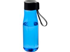 Бутылка спортивная Ara с зарядным кабелем, голубая/чёрная фото