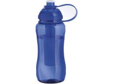 Бутылка спортивная Yukon 500мл, прозрачный/синий фото
