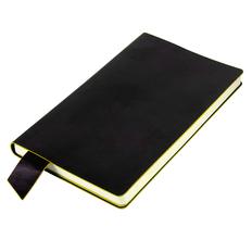 """Бизнес-блокнот thiNKme """"Trendi"""", черно-желтый, 130*210 мм, мягкая обложка, в линейку фото"""