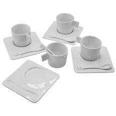 Чайный набор England: чашка с блюдцем на 4 персоны , белый фото