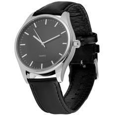 Часы наручные Chronicker Silver, черный/серебряный фото