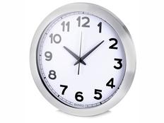 Часы настенные, серебряный фото
