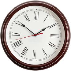 Часы настенные Flat Circle, коричневые фото