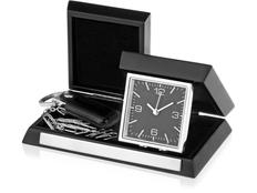 Часы настольные Линкольн, чёрные фото