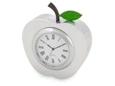 Часы настольные Серебряное яблоко, серый фото