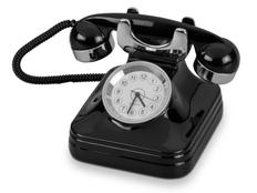 Часы Ретро-телефон, черный фото