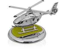 Часы Вертолет с посадочной площадкой. Вертолет может взлетать и садиться на площадку, серый фото