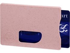 Чехол для карточек RFID Straw, розовый фото