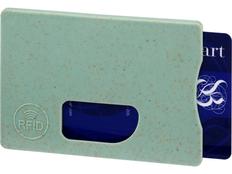 Чехол для карточек RFID Straw, зелёный фото