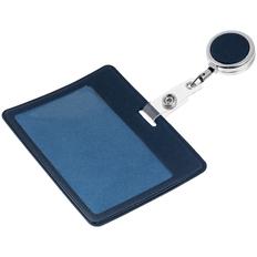 Чехол для карточки с ретрактором Devon, синий фото