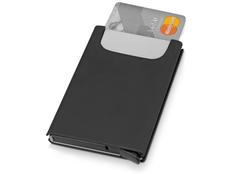 Держатель для карт Verlass c RFID защитой, черный, серый фото