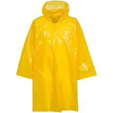 Дождевик-плащ с капюшоном на липучке унисекс Molti CloudTime, жёлтый фото