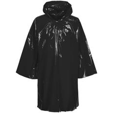 Дождевик-плащ с капюшоном на липучке унисекс Molti CloudTime, чёрный фото