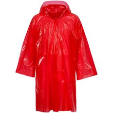 Дождевик-плащ с капюшоном и длинными рукавами унисекс Molti BrightWay, красный фото