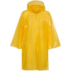 Дождевик-плащ с капюшоном и длинными рукавами унисекс Molti BrightWay, жёлтый фото
