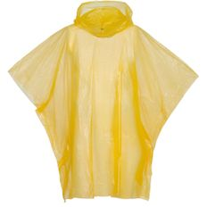 Дождевик-пончо с капюшоном и укороченным рукавом унисекс Molti RainProof, жёлтый фото