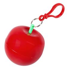 Дождевик в круглом футляре с карабином Фрукт, красный фото