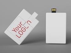 Флеш-карта 8GB Ребус, белый фото