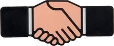 Флешка Рукопожатие, 8 Гб фото