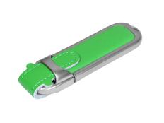 Флешка USB 3.0 на 32 Гб с массивным классическим корпусом, зелёная фото