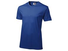 Футболка мужская с V-образным вырезом US Basic Heavy Super Club, синяя фото