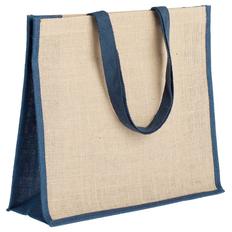 Сумка для покупок Bagari, синяя/ бежевая фото