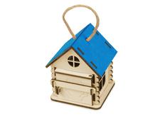Игрушка-упаковка из фанеры Домик, синий фото