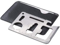 Инструмент многофункциональный в форме карты в чехле, черный, серый фото