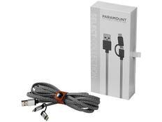 Брелок кабель 3 в 1: micro USB/ Lighting/ Type С, Avenue Paramount, черный/ белый фото