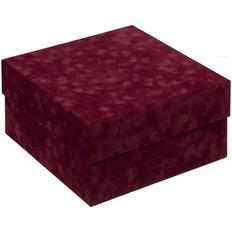 Коробка с велюровой поверхностью Velutto, бордовая фото