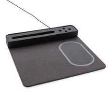 Коврик для мыши с беспроводным зарядным устройством XD Xclusive, 5W, серый фото