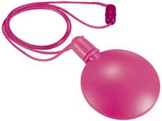 Диспенсер для мыльных пузырей круглый, розовый фото