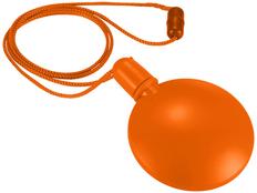 Диспенсер для мыльных пузырей круглый, оранжевый фото