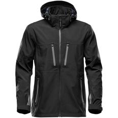 Куртка софтшелл с водонепроницаемыми молниями мужская Stormtech Patrol, черная / серая фото