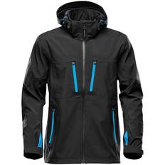 Куртка софтшелл с водонепроницаемыми молниями мужская Stormtech Patrol, черная / синяя фото