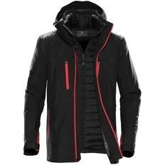 Куртка-трансформер с капюшоном мужская Stormtech Matrix, чёрная / красная фото