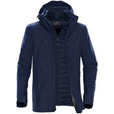 Куртка-трансформер с капюшоном мужская Stormtech Matrix, темно-синяя фото