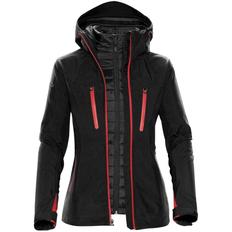 Куртка-трансформер с капюшоном женская Stormtech Matrix, чёрная / красная фото