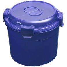 Ланч бокс Barrel Roll, круглый, синий фото
