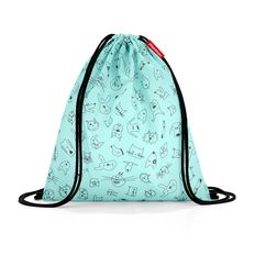 Мешок детский Reisenthel mysac Cats and Dogs Mint, мятный фото