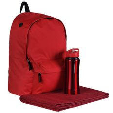 Набор: Рюкзак Rider, Спортивная бутылка Marathon Полотенце махровое Medium, Active, красный фото