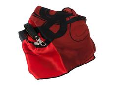 Набор: брелок, шелковый платок, чёрно-красный фото